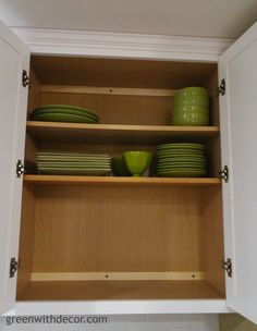 Green With Decor – Adding extra kitchen cabinet shelving with a trip to Home Depot