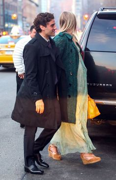 Oscar Isaac and Elvira Lind yesterday (Mar 27) in New York