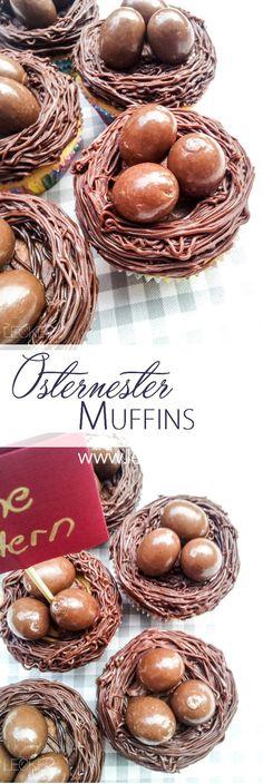 Cherry slip muffins as easter eggs Desserts Végétaliens, Desserts Ostern, Holiday Desserts, Paula Deen, Muffins, Cupcakes, Easter Treats, World Recipes, Baking Tips