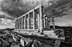 444 B.C. - The temple of Poseidon in Sounio cape Greece