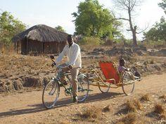Bicycle Ambulance, Mchinji, Malawi #africa #bike #bicycle