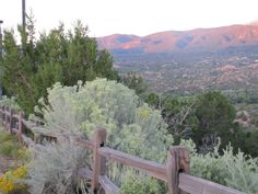 View from Santa fe opera house - I was there in nov '98 and it had just snowed