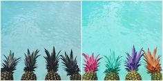 """Nothing Says """"I Love Summer"""" Like These DIY Painted Pineapples"""