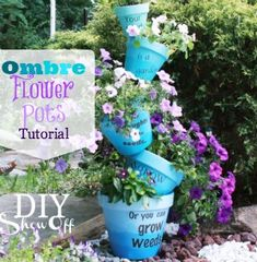 One of the prettiest Tipsy Pots projects we've seen! Learn how at DIY Show Off