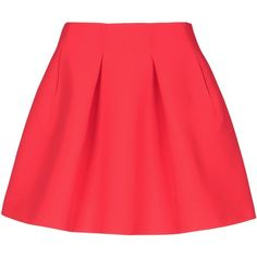 Kenzo Mini Skirt (3,570 MXN) ❤ liked on Polyvore featuring skirts, mini skirts, bottoms, saias, jupe, coral, mini skirt, short skirts, red pleated skirt and short red skirt