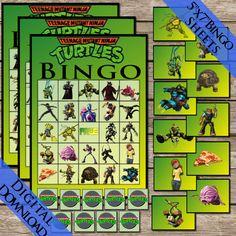 Ninja Turtles Bingo! Digital Download! Ninja Turtle Bingo Birthday Party Game!