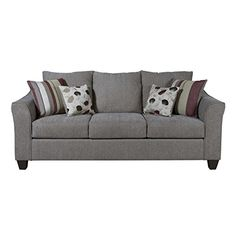 Serta Sofa Extremely Comfortable Very Sturdy Fabric Sofa for Living Room or Bed Room Metal >>> For more information, visit image link.