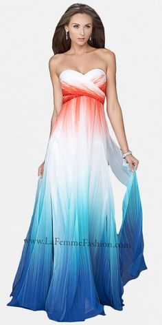Ice Storm Fade Prom Dresses by La Femme at eDressMe this ones really cool for fire and ice theme