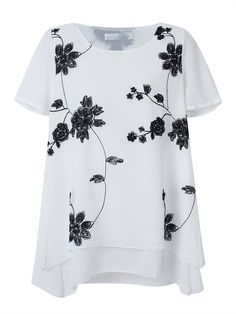Description:  Material:Chiffon Style:Casual Collar:O-neck Pattern:Printed Sleeve Length:Short Sleeve Season:Summer    Package included:  1*T-Shirts