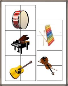 Μουσικά όργανα : Εκτυπώσιμα παιχνίδια Kindergarten Music, Preschool Music, Preschool Themes, Teaching Music, Teaching Kids, Music Lessons For Kids, Music For Kids, Music Do, Homemade Musical Instruments