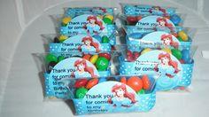 Ariel Little Mermaid Birthday party favors. via Etsy.