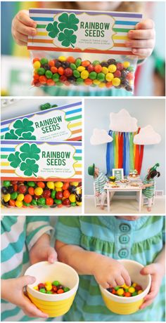 Patrick's Day Party – Rainbow seeds! Holiday Treats, Holiday Fun, Holiday Decor, School Treats, Diy Party, Party Ideas, Gift Ideas, St Paddys Day, Thinking Day