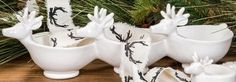 Reindeer dishes Reindeer, Christmas Decorations, Dishes, Gifts, Favors, Christmas Decor, Tablewares, Ornaments, Presents