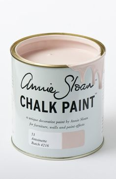 "How to Decorate with Pantone's Rose Quartz and Serenity - ""Antoinette"" paint, $30 per liter; at Annie Sloan"