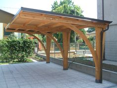 Check our huge array of custom carports for customers across the USA. Explore our carport ideas gallery, carport design photos and so much more. Diy Pergola, Toile Pergola, Rustic Pergola, Pergola Carport, Steel Pergola, Deck With Pergola, Outdoor Pergola, Pergola Shade, Pergola Ideas
