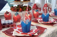 Fourth of July Placesetting