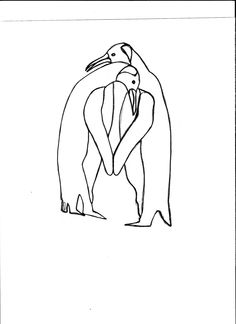 Day 10 #30doc @createstuff drew these penguins today not sure yet whether they will be made out of stained or fused glass yet ;~D