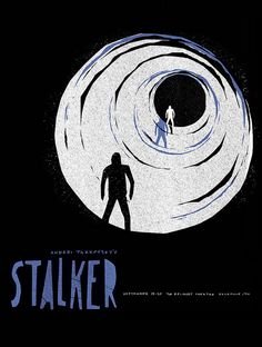 2011 rep screening poster for STALKER (Andrei Tarkovsky, USSR, 1979)    Artist: Sam Smith