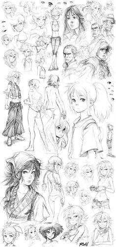 2010 - Sketch Dump 8 by Runshin.deviantart.com on @DeviantArt