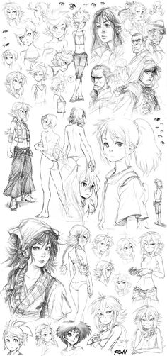 2010 - Sketch Dump 8 by Runshin.deviantart.com on @DeviantArt
