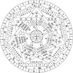 The Sigillum Dei (seal of God, or signum dei vivi, symbol of the living God, called by John Dee the Sigillum Dei Aemaeth) was a late Middle Ages magical diagram, composed of two circles, a pentagram, and three heptagons, and is labeled with the name of God and his angels. It was an amulet (amuletum) with the magical function that, according to one of the oldest sources (Liber iuratus), allowed the initiated magician to have power over all creatures except Archangels.