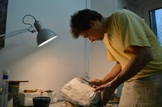 Me working on the mould