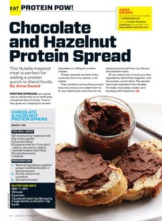 Chocolate Hazelnut protein spread aka protein Nutella