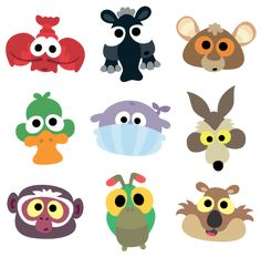 Printable Paper Animal Masks For Kids