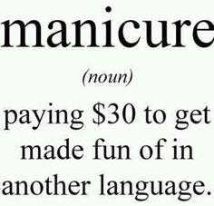 manicurist Quotes | Funny Facebook Status: Manicure funny facebook quote