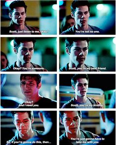 Scott and Stiles - BROTP - besties - Teen Wolf season 3