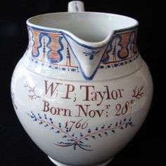 English Pottery Jug. Find this and other ceramics at CuratorsEye.com.