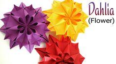 "Beautiful Flower Origami - Paper ""Dahlia Flower """