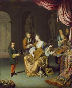 Willem Van Mieris the Younger, The Lute Player, ca 1700