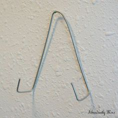 plate stand from wire hanger