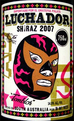 R Wines Luchador Shiraz 2007 Mexican Mask, Sometimes I Wonder, Mexican Designs, Bad News, Wine Time, Cool Designs, Mexico, Design Inspiration, Character Design