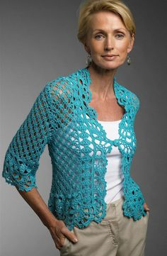 MyPicot   Free crochet patterns. //  I JUST LOVE THE STITCH ON THE SLEEVE! SO GLAD IT WAS CARRIED ONTO THE BODY OF THE SWEATER!  ♥A