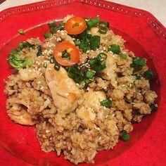 A fun attempt at #pork & #chickenfried #rice