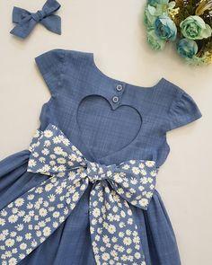 Baby Frocks Designs, Kids Frocks Design, Girls Dresses Sewing, Toddler Girl Dresses, Baby Girl Frock Design, Cotton Frocks For Kids, Kids Dress Collection, Baby Frock Pattern, Kids Dress Wear