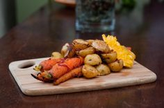 Moroccan Roasted Carrots & Potatoes (vegan)