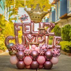Balloon Crafts, Balloon Decorations Party, Balloon Garland, Birthday Decorations, 21st Birthday Bouquet, 50th Birthday Party, Birthday Balloons, Balloon Flowers, Balloon Bouquet