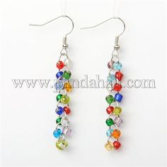 Glass Seed Bead EarringsEJEW-JE00905-07-1