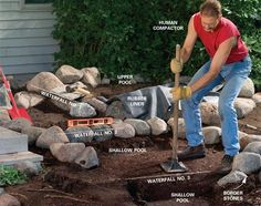 Large backyard landscaping ideas are quite many. However, for you to achieve the best landscaping for a large backyard you need to have a good design. Large Backyard Landscaping, Ponds Backyard, Landscaping With Rocks, Garden Pool, Backyard Waterfalls, Koi Ponds, Landscaping Ideas, Backyard Ideas, Backyard Stream