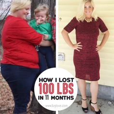 How I REALLY lost 100 lbs in 11 months!  www.livylove.com #totalbodytransformation