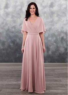 Simple Wedding Dresses, Stunning Tulle & Chiffon V-neck Neckline A-line Mother Of The Bride Dress With Belt & Beadings MagBridal Mother Of Groom Dresses, Mothers Dresses, Mother Of The Bride Gown, Bride Gowns, Bridal Dresses, Dresses Dresses, Wedding Gowns, Bridesmaid Dresses, Affordable Wedding Dresses