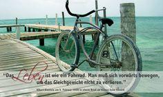 """""""Das Leben ist wie ein Fahrrad. Man muß sich vorwärts bewegen, um das Gleichgewicht nicht zu verlieren.""""    Albert Einstein am 5. Februar 1930 in einem Brief an seinen Sohn Eduard."""