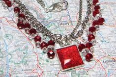 Free Stuff: RADICALLY RED artisan handmade crystal silver necklace by pamreily - Listia.com Auctions for Free Stuff