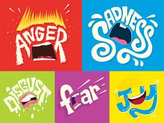 Inside Out Typographic Emotions by Risa Rodil