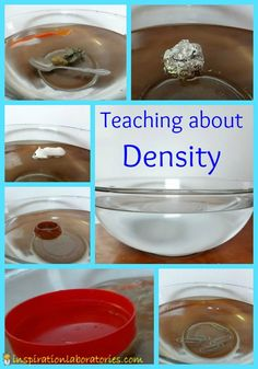 Teaching about density - part of the A to Z Science series for toddlers and preschoolers at Inspiration Laboratories