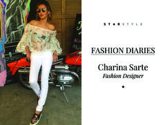 StarStyle PH - Fashion Diaries: Charina Sarte, Fashion Designer