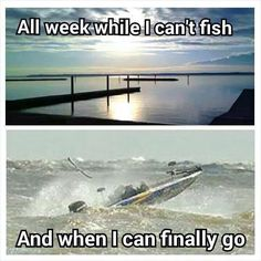 And if it isn't the wind, it is the damn additional boaters that are determined to perform all over the lake instead of fishing. For God's sake, anchor down or log off the water! Usa Fishing, Bass Fishing Tips, Walleye Fishing, Fishing Tools, Fishing Guide, Kayak Fishing, Fishing Signs, Fishing Tricks, Women Fishing